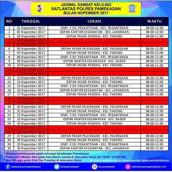 Lokasi Sim Keliling Pamekasan 9 November 2017 Ntmc Polri